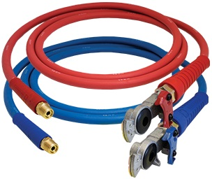 Color-Coded Air Line Hose Assemblies w/ FLEXGrip-HD™ & Installed Aluminum Gladhands