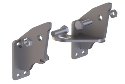 EX-GUARD MOUNTING BRACKET XG-04MGU - Mack GU713 Set-Forward ('04-Current)