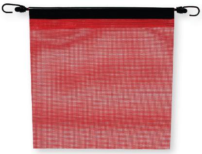 FB400CR - RED MESH BUNGEE FLAG