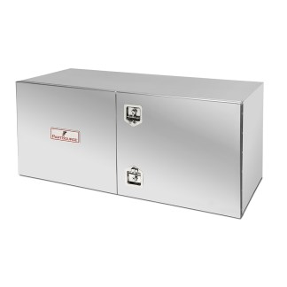 24x24x60 PARTSOURCE TOOLBOX, MIRROR FINISH, DOUBLE DOOR, T-LATCH