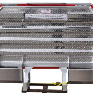 6886DHDS DELUXE CAB RACK, DROP SIDES, TWO 21INCH LCR, 2 HALF TRAYS, COIL RACK HOLDER, GRAB HANDLE