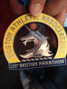 La medaglia della Maratona di Boston