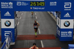 Arrivo Maratona di Berlino