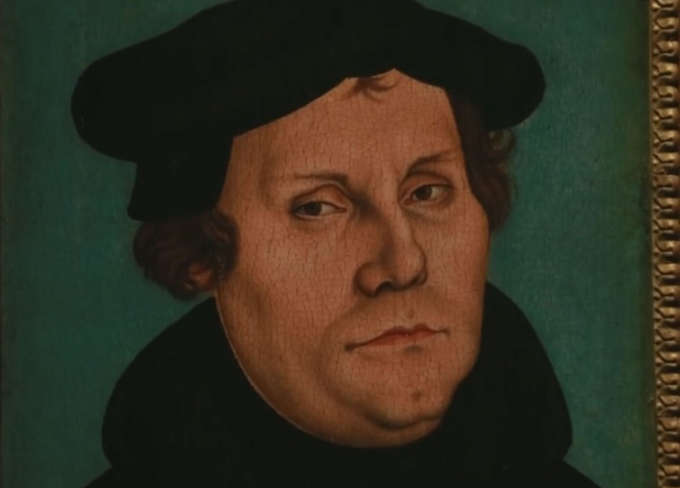 Pintura mostra o monge alemão Martinho Lutero (Foto: Reprodução/ TV Globo)