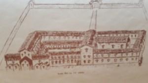 Scala Dei (Escaladieu) au XIIe siècle, dessin de Ivan Douglas Frossard