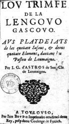 Gascon - Lou trumfo de la lengoua gascouno