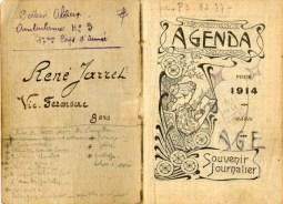 Journal de guerre 1914 du soldat René Jarret - Territoriaux - Agenda