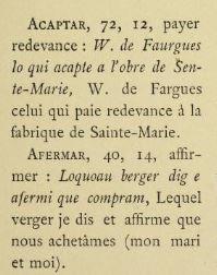 Le Livre d'Or de Bayonne - Extrait du glossaire