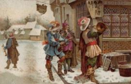Veille de Noël en Angleterre au 18ème siècle - les aguilhonèrs