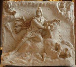 Le mythe de Mithra terrassant le taureau et la course landaise