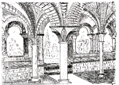 Abbaye d'Escaladieu - salle capitulaire et guerres de religion