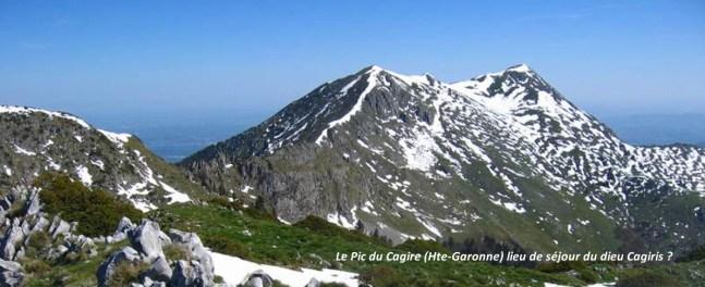 Le Pic du Cagire, lieu de séjour d'un des dieux pyrénéens