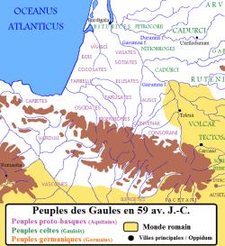 Les peuples de Gaule en 59 avant JC