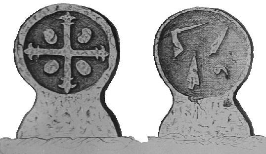 Stèles discoïdales du site de Mus à Doazit (40)