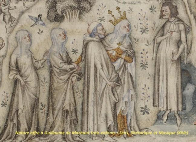 Cant Royal - Nature offre à Guillaume de Machaut trois enfants - Sens Rhétorique et Musique