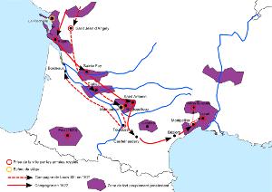 Le duc d'Épernon participe aux campagnes de Louis XIII pour écraser les guerres huguenotes (1620-1621)