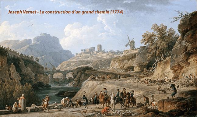 Joseph Vernet - La construction d'un grand chemin