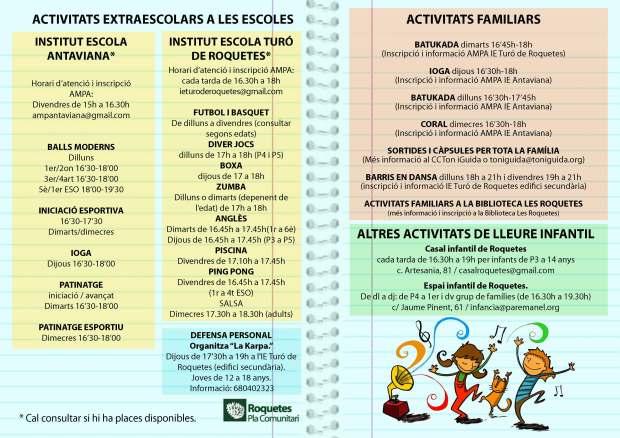 ACTIVITATS EXTRA 2019-20