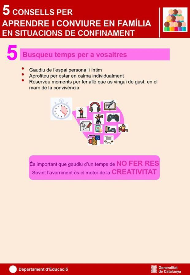 5. 5 consells per aprendre i conviure en familia en situacions de confinament