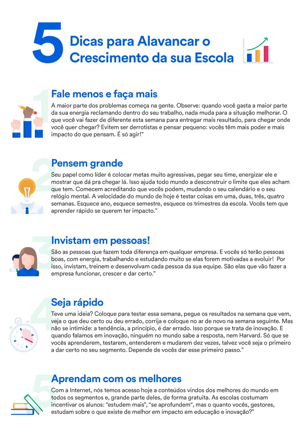 5 dicas para alavancar o crescimento da sua escola