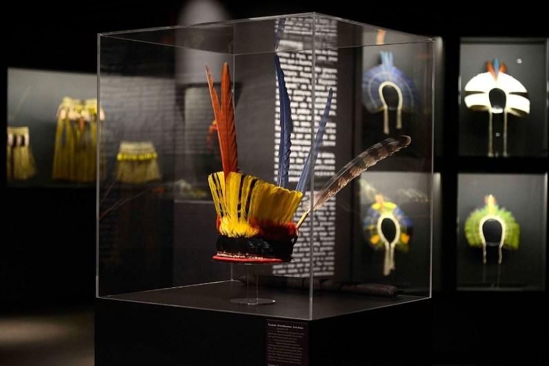 Arte plumária – Museu de Arte Indígena – Curitiba/PR