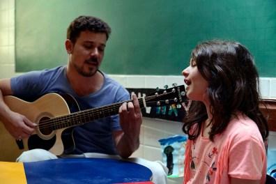 Atividade do Integral, com Carlito Birolli e Ana Clara, aluna do Ensino Fundamental