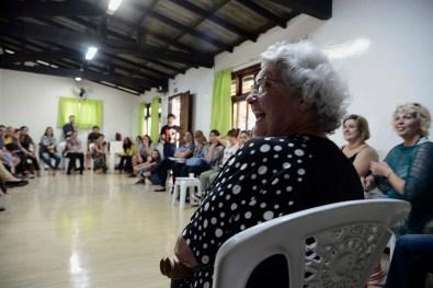 Laura Monte Serrat Barbosa durante reunião para definição do Eixo Temático 2018.