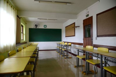 Sala de aula do ensino fundamental