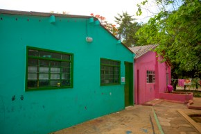 Salinhas verde e rosa