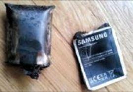 Baterias que explodiram