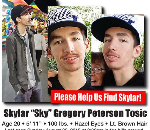 Search for missing Escondido college student Sky Tosic