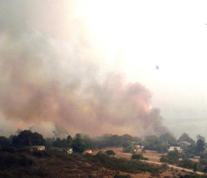 San Dieguito Valley under fire.