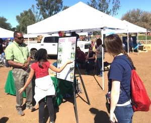 Longtime San Diego County entomologist David Kellum taught kids about good insects