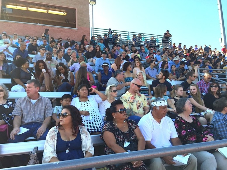 Packed bleachers at Jaguars Stadium.