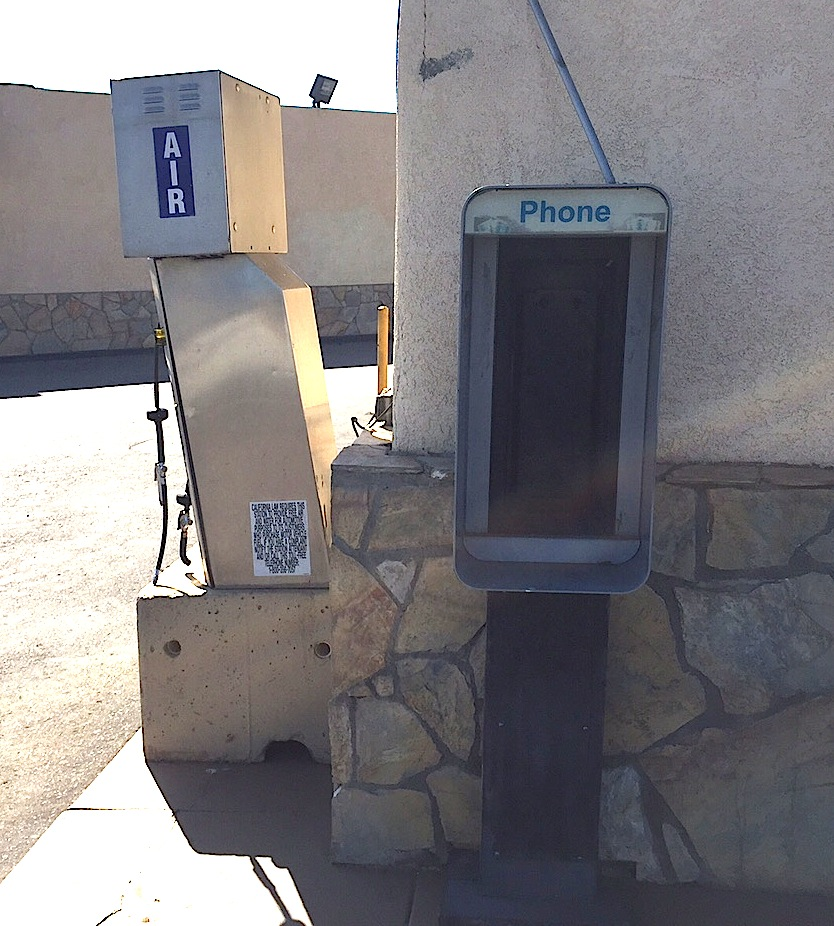 Abandoned payphone shell at Pala Vista Gas on Valley Center Road.