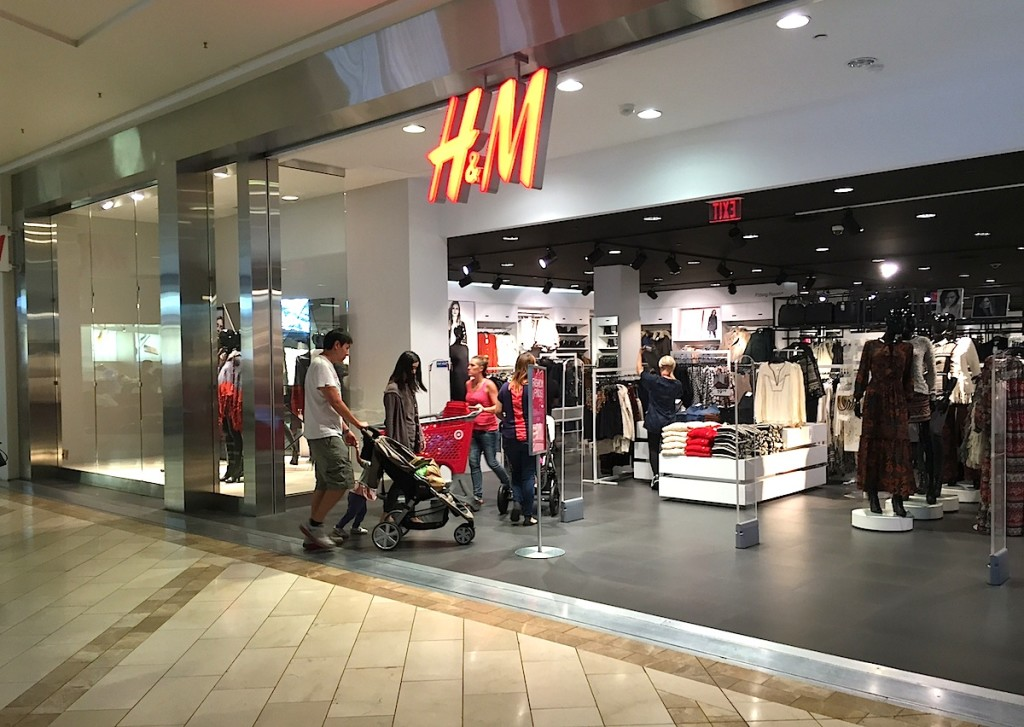 Beware of price overcharging all who enter here, H&M, #2 on San Diego County's Top 10 overcharging list.