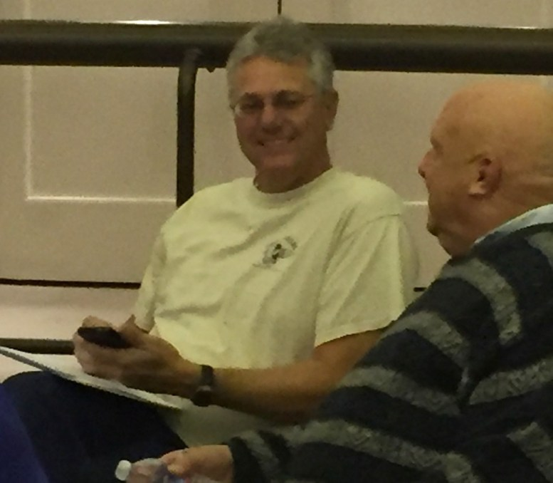 Escondido resident Robroy Fawcett (left), one of several citizens who comment regularly during council meetings.