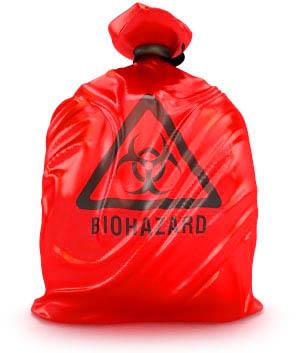 Red bag medical waste.