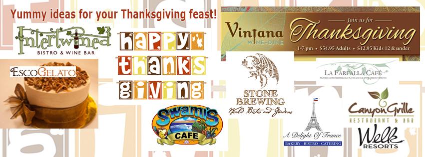 Thanksgiving venues around Escondido.