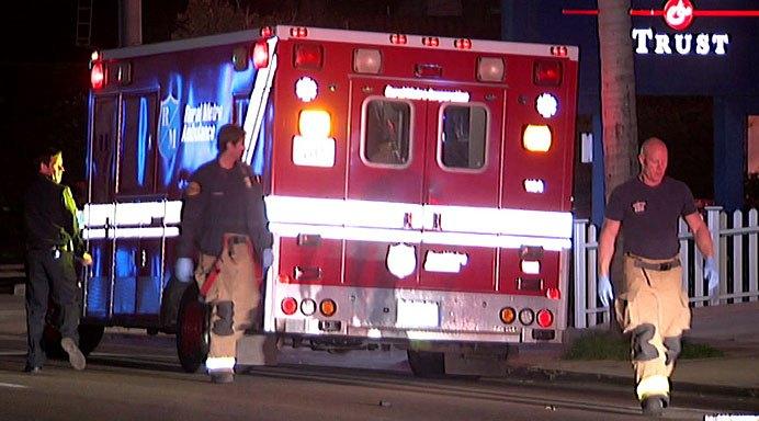 Paramedics at Broadway and Grand Saturday.