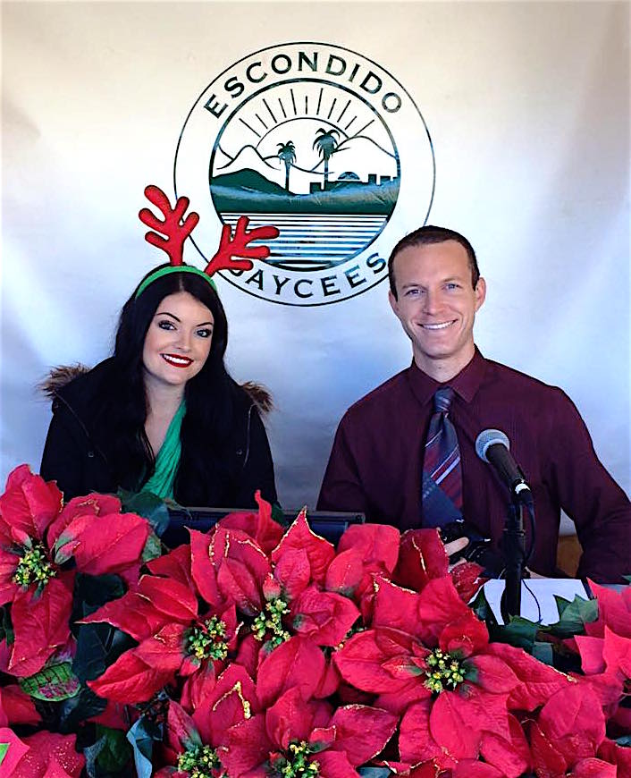Your Escondido Jaycees 65th Annual Christmas Parade. Krista Stemmerman and Robert Jungma.