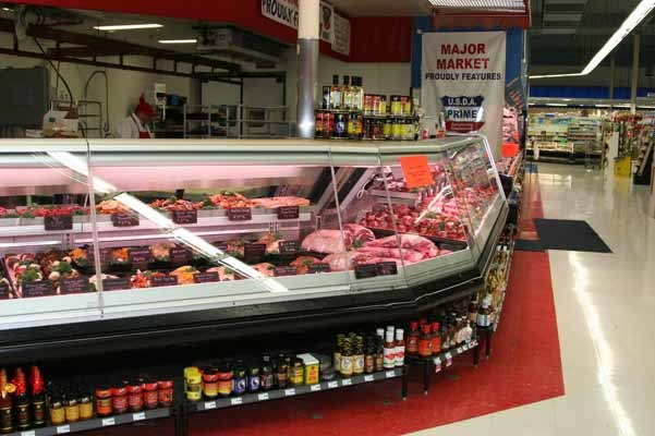 View from the meat/seafood case