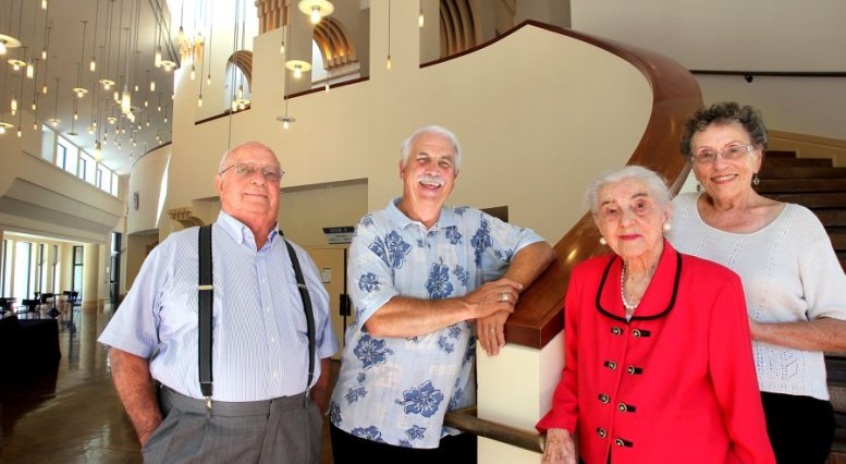 Theater at the California Center for the Arts, L-to-R: Hal Johnson, Dennis Tomlinson (Artistic Director), Eileen Menees, and Dorris Kingsbury.