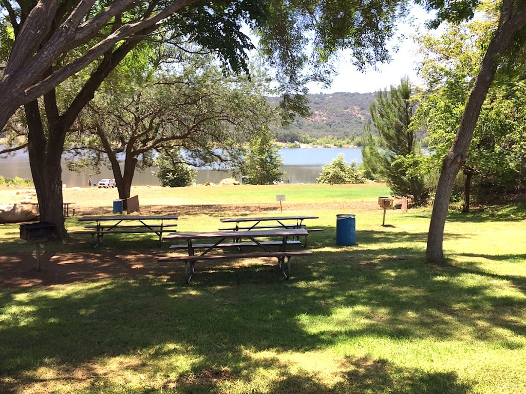Picnic park by Lake Wohlford.