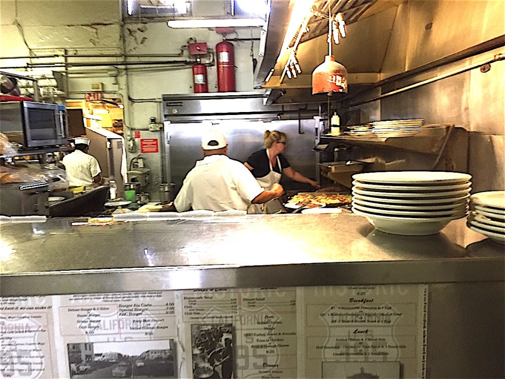 Annette Champion grilling it up as main cook at Champion's Family Restaurant.