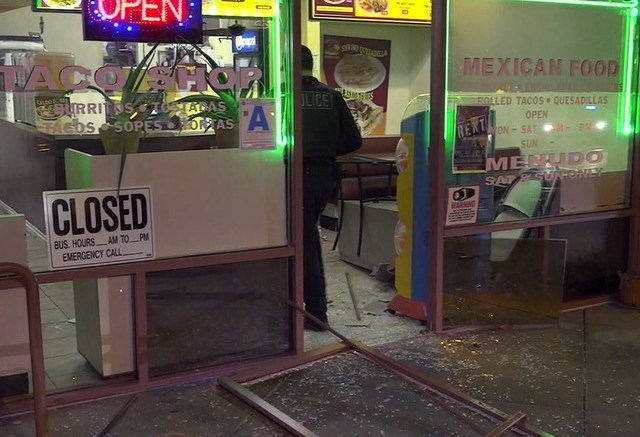 Chito's Taco Shop was the scene where thieves attempted to steal an ATM.