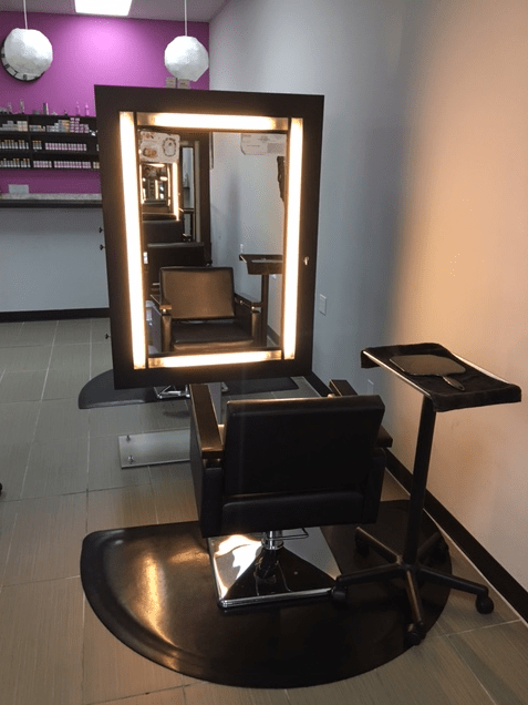 Everything is state of the art at the Hair Lounge.
