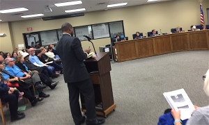 Chris Garnier approached the Board.