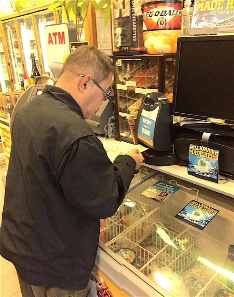 Escondido's Martin Ruiz had a happy-go-lucky attitude as he bought a $2 Powerball ticket.