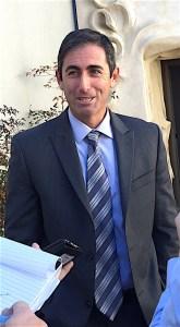 San Diego Deputy District Attorney Leon Schorr outside Vista Court Thursday.